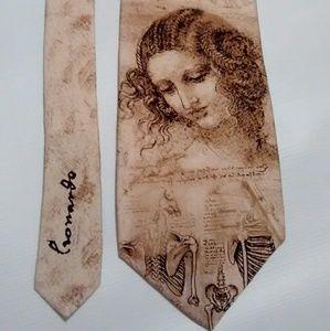 Davinci's Drawings Men's Art Neck Tie Silk